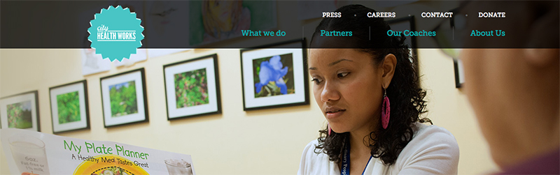 City Health Works CHW web site screenshot